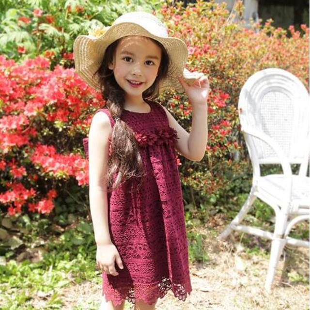62f2135c8bce1 韓国子供服 フォーマル ワンピース ノースリーブ 女の子 子ども服 春夏 ドレス キッズ レースワンピース ピアノ