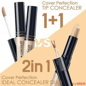 [1+1]ザセム カバー パーフェクション チップ コンシーラー/コンシーラーデュオ The Saem Cover Perfection Tip Concealer1+1/ Concealer Duo
