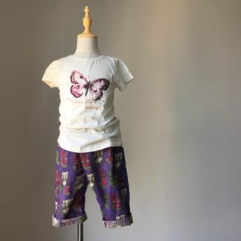 子供用8パンツ - 紫色の仏手