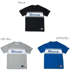スポルディング メンズ Tシャツ ブルー デビルズ BLUE DEVILS バスケットボールウェア トップス 半袖Tシャツ SMT181400