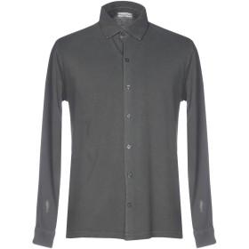 《セール開催中》CASHMERE COMPANY メンズ シャツ 鉛色 50 コットン 100%