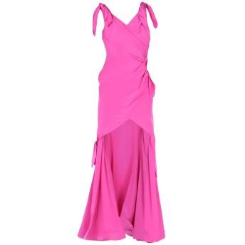 《セール開催中》MOSCHINO レディース ロングワンピース&ドレス フューシャ 40 シルク 100%