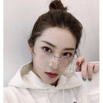 芸能人愛用の眼鏡 伊達メガネ 眼鏡 丸眼鏡 ヴィンテージ 韓国ファッション 細身