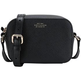 《セール開催中》SMYTHSON レディース メッセンジャーバッグ ブラック 牛革(カーフ) 100% PANAMA mini crossbody w/leather strap