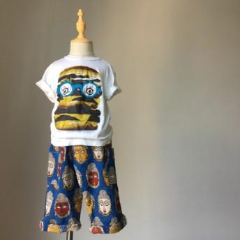 子供用8パンツ - 青い仏頭