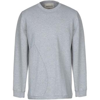 《セール開催中》CORELATE メンズ スウェットシャツ ライトグレー S コットン 100%