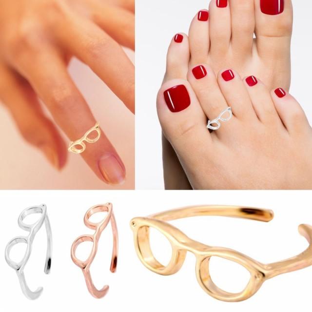 メガネトゥリング 足の指輪 トーリング 足のリング ピンキーリング フリーサイズ レディース メンズ ファランジリング チップリング ミディリング フリーサイズ 面白 fr-00-0292-xx