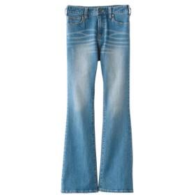 すごのびストレッチデニムブーツカットパンツ(ゆったり太もも)(股下68cm) (大きいサイズレディース)パンツ