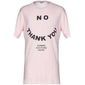 《セール開催中》DANIELE ALESSANDRINI HOMME メンズ T シャツ ピンク L コットン 100%