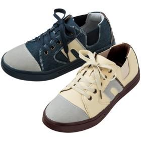 【格安-女性靴】レディースサイドゴム付切替デザインカジュアルシューズ