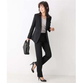 洗えるすごく伸びるロング丈テーラードジャケットパンツスーツ (大きいサイズレディース)スーツ,women's suits ,plus size
