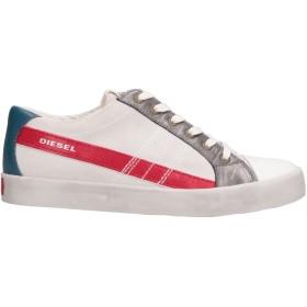 《セール開催中》DIESEL メンズ スニーカー&テニスシューズ(ローカット) ホワイト 42 革
