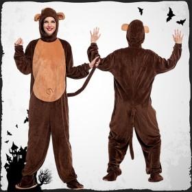 ハロウィンアニマルコスプレ 変装 サル装 monkey もふもふ 可爱い アニマル セットコスチュームHalloweenハロウィンコスプレ 女性 仮装 大人 レディース コスプレ衣装