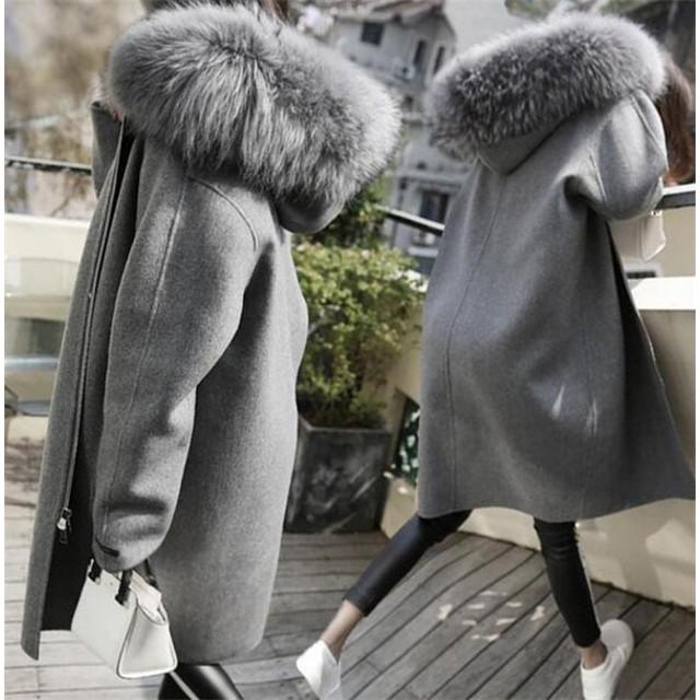 秋冬新品 人気 新型 韓国ファッション ロングコートファー付きコート チュニック アウター ダッフルコート モッズコート ムートンコート 韓国 コート 大きいサイズ コットン