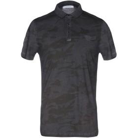 《送料無料》HAMAKI-HO メンズ ポロシャツ 鉛色 S コットン 100%