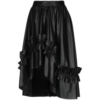 《9/20まで! 限定セール開催中》CEDRIC CHARLIER レディース 7分丈スカート ブラック 42 ポリエステル 100%