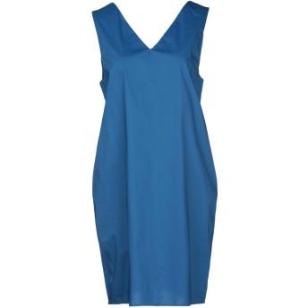 《セール開催中》LIVIANA CONTI レディース ミニワンピース&ドレス ブルー 42 コットン 68% / ナイロン 28% / ポリウレタン 4%