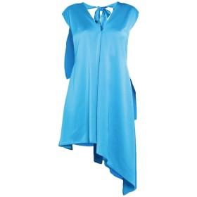 《セール開催中》MSGM レディース 7分丈ワンピース・ドレス ターコイズブルー 40 ポリエステル 100%