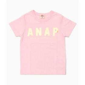 【50%OFF】 アナップキッズ ロゴTシャツ レディース ベビーピンク 110 【ANAP KIDS】 【セール開催中】