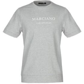 《期間限定 セール開催中》GUESS BY MARCIANO メンズ スウェットシャツ ライトグレー M コットン 67% / ポリエステル 28% / ポリウレタン 5%