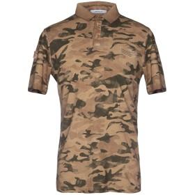 《送料無料》HAMAKI-HO メンズ ポロシャツ ブラウン L コットン 100%