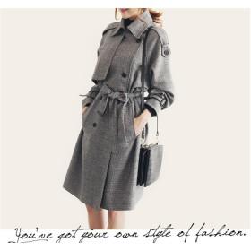 スプリングコート トレンチコート ゆったりコート ロング丈アウター 大きいサイズ 春コート レディースファッション フェミニン おとな 可愛い コートアウター ライトブラウン