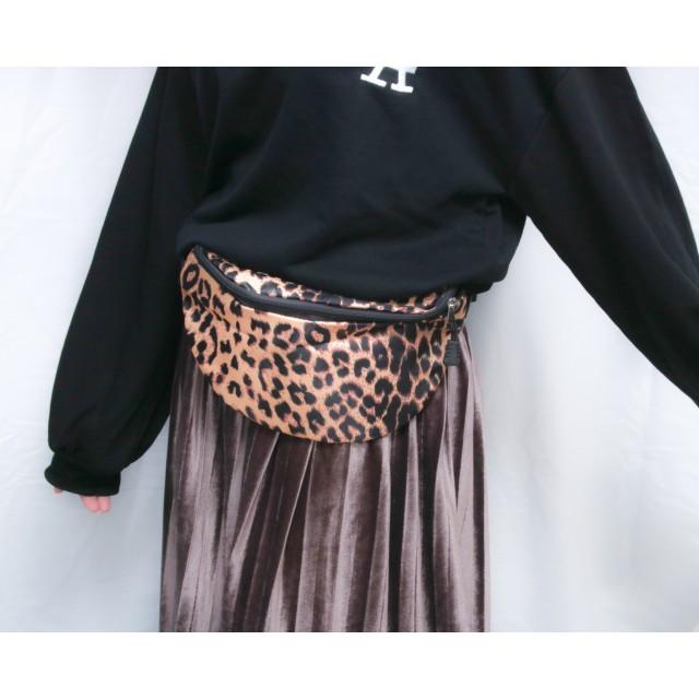 11759ac05b76 レオパード柄ウエストポーチ 韓国ファッション 秋 カジュアル ボディ ...