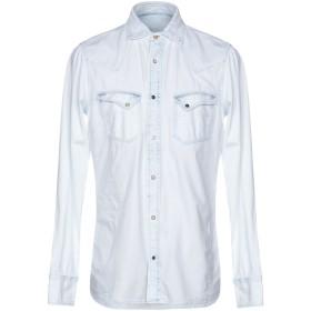 《期間限定セール開催中!》PENCE メンズ デニムシャツ ブルー S コットン 100%