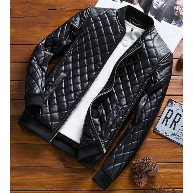 [55555SHOP]レザージャケット 皮アウター フリースジャケット 革ジャン ブルゾン ミリタリー 防風 保温