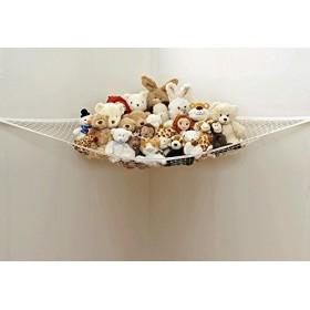 【Ligangam】子供玩具収納 お風呂 ハンモク 子供部屋 室内 ヌイグルミ 人形 帽子 ボール 収納用ネット 吊り下げ型 たっぷり収納 片付けネット 多用途 オシャレ(1