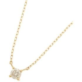 COCOSHNIK / ココシュニック K18ダイヤモンド爪留ネックレス大