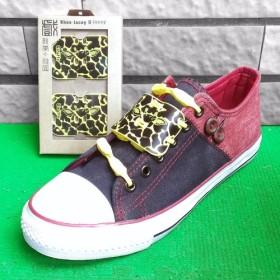 「アニマルプリントの基本モデル ショー+靴ひも - キリンパターン卵黄 ] [シリコーン材料