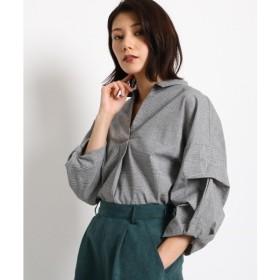 AG by aquagirl / エージー バイ アクアガール 【WEB限定プライス】タックスリーブ グレンチェックシャツ