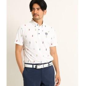 adabat / アダバット 【UVカット】【吸水速乾】フラダンスモチーフ半袖ポロシャツ