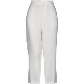 《セール開催中》DOUUOD レディース パンツ ホワイト 38 麻 78% / コットン 22%