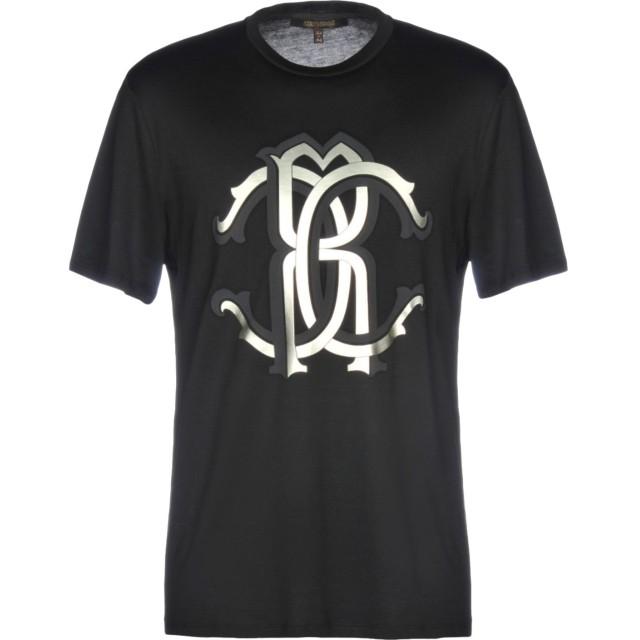 《期間限定セール開催中!》ROBERTO CAVALLI メンズ T シャツ ブラック S コットン 100%