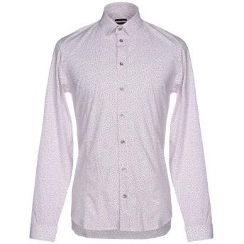 《セール開催中》PATRIZIA PEPE メンズ シャツ レッド 46 コットン 97% / ポリウレタン 3%