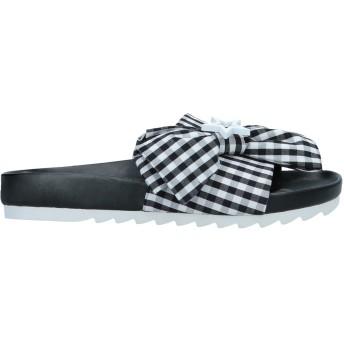 《セール開催中》MY TWIN TWINSET レディース サンダル ブラック 36 紡績繊維