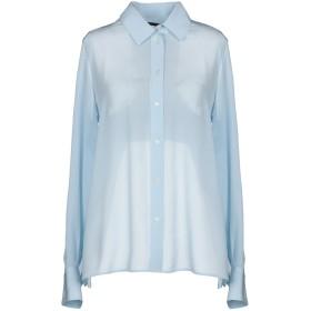 《送料無料》PINKO レディース シャツ スカイブルー 40 シルク 100% / レーヨン / ポリエステル