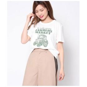 【50%OFF】 ファクターイコール CARプリントTシャツ レディース 生成 F 【Factor=】 【セール開催中】