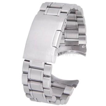 時計バンド 交換ベルトステンレス製 腕時計ストラップ 22mm シルバー (シルバー)