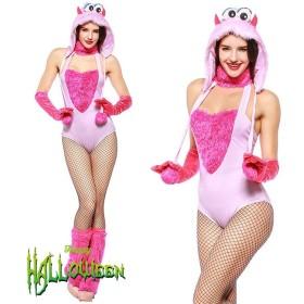 ハロウィン コスプレ 変装 コスチューム もふもふ セット 4点セット 女性 仮装 大人 レディース コスプレ衣装 セクシー 変装cosplay セクシー ハロウィ ハロウィン