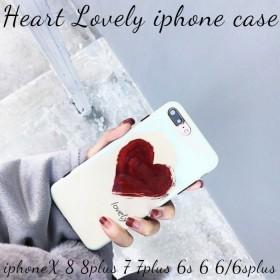 【送料無料】iphoneケース iphone8 iphone8plus iphoneX iphone6s iphone6plus スマホケース アイフォンラブリー ハート