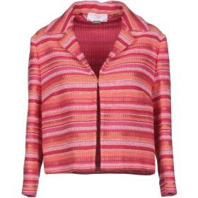 《セール開催中》CLIPS MORE レディース テーラードジャケット オレンジ 44 コットン 49% / ポリエステル 37% / アクリル 9% / 指定外繊維 3% / ナイロン 2%