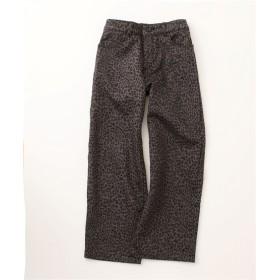 あったか♪裏フリース綿混ストレッチ9分丈ワイドパンツ (レディースパンツ)Pants, 子, 子