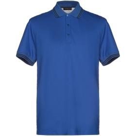 《期間限定セール開催中!》ROBERTO CAVALLI メンズ ポロシャツ ブルー XL コットン 100%