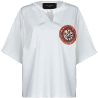 《セール開催中》MR & MRS ITALY レディース T シャツ ホワイト XXS コットン 100% / シルク