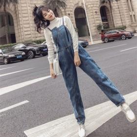 [55555SHOP]Fashions、2018新品 連体式 デニム パンツ ジーンズ