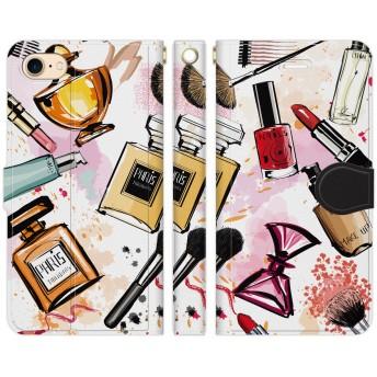 ヴァルバロッサ [iPhone7 / iPhone8専用 手帳型 スマホケース カバー] ファッション コスメ 香水 ネイル パフュームボトル スタンド機能 ストラップホール.