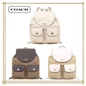 Qoo10クーポン使えます♪ COACH★ BILLIE BACKPACK IN PEBBLE LEATHER F37410 F29008 F30275